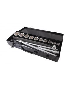 "RATCHET + HEX SOCKET SET 3/4"" D. (14 PCS)"