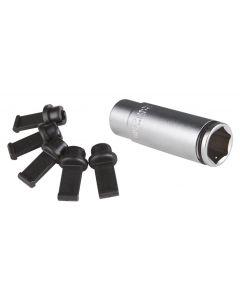 DOUILLE BOUGIE PSG 12mm 6 PANS+CAPUCHONS PROTECTEURS PSG