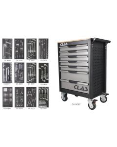 7 DRAWER ROLLER CABINET 243 TOOLS