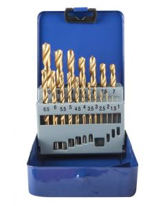 19 PCS TITANE DRILL SET Ø1-Ø10mm