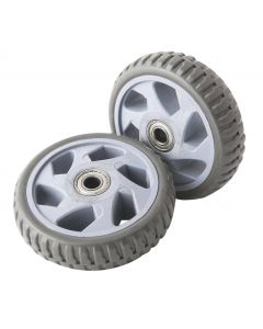 PAIR OF FIXED WHEELS Ø126x33mm