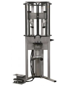 REINFORCED PNEUMATIC SPRING COMPRESSOR WITH ARTICULATED JAWS