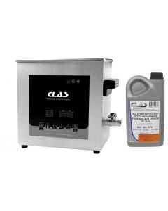 BAC A ULTRASONS 3L 100W 40KHz + SOLUTION DE NETTOYAGE CONCENTREE 25%