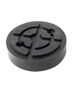 REINFORCED ROUND RUBBER PAD (2 METALLIC WASHERS) Ø120x32mm