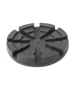 REINFORCED ROUND RUBBER PAD (METALLIC PLATE) Ø125x24mm