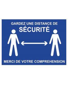 PANNEAU SIGNALISATION DISTANCE DE SECURITE 210x297mm