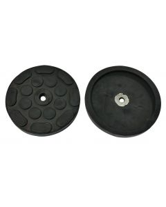 REINFORCED ROUND RUBBER PAD (1 METALLIC WASHER) Ø120x4mm