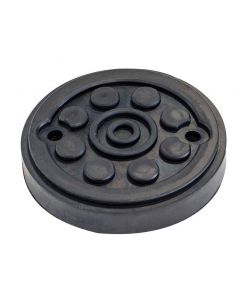 REINFORCED ROUND RUBBER PAD (METALLIC PLATE) Ø120x22mm