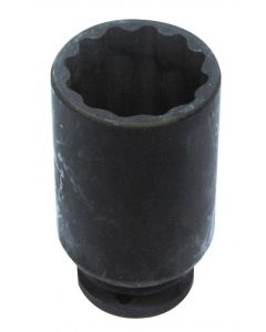 "DOUBLE HEX IMPACT SOCKET Ø35mm 1/2"" L.85mm"
