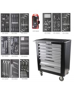 7 DRAWERS ROLLER CABINET XL 228 TOOLS