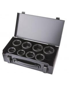 """COFFRET 8 DOUILLES CHOC 6 PANS 26-38mm 3/4"""""""