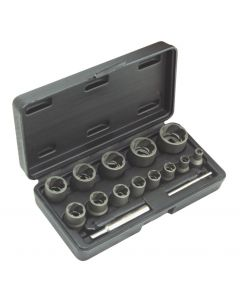 IMPACT TWISTED SOCKET SET FOR DAMAGED NUTS Ø6-Ø27mm